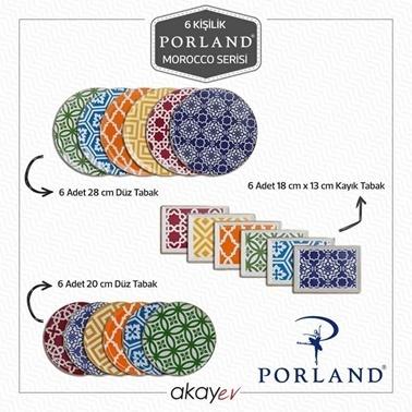 Porland Morocco 18 Parça Servis Takımı Renkli